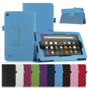 """Case For Amazon Fire 8"""" and HD 8 (Current model) Leather Smart Cover Wake Sleep"""