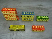 8 Rolls Of Vintage Ilford Camera Safety Film Selochrome Expired 1960's NOS