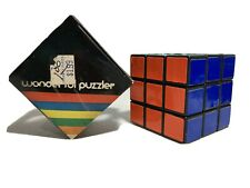 Vintage Wonderful Puzzler Brand Rubix-Cube Toy in Box 1980s V2 80s Puzzle