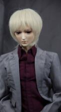 Doll Wig Short Straight Flaxen Blonde BJD Ball Jointed Doll Size 6-7 8-9