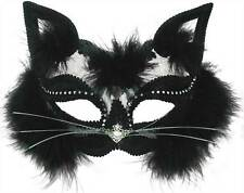 TRANSPARENT BLACK CAT MASK, MASQUERADE EYE MASK, HALLOWEEN FANCY DRESS