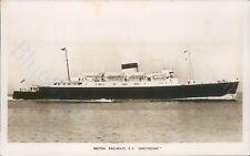 British Railways SS amsterdam 1951 real photo postcard