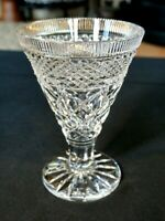 Stunning Heavy Crystal Vintage Footed Vase
