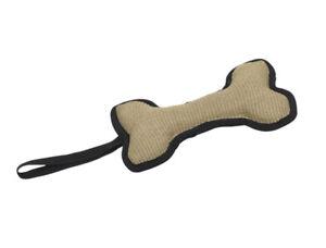 Jute Knochen 25 cm Hundespielzeug Hundeknochen mit Schlaufe - Appotierspaß