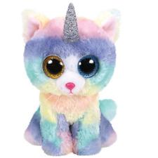 Ty Beanie Boos 36753 Heather The Rainbow Cat With Horn Boo Large