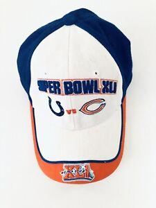 NFL Brand Super Bowl XLI Baseball Cap Hat Indianapolis Colts Chicago Bears 2006