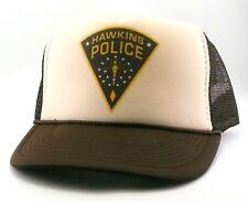 Hawkins Police Trucker Hat mesh hat snapback hat Tan brown Stranger Things hat