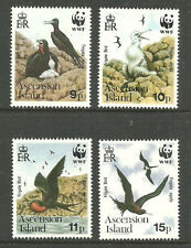 Album Treasures Ascension Scott # 483-486  World Wildlife Fund (birds) Mint NH
