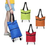 Foldable Trolley Bag Portable Shopping Cart Folding Home Travel Luggage Large