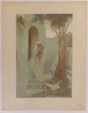 La Maison de la Vierge, Dubufe fils, lithographie, L'estampe originale, 1897