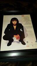 Janet Jackson 1990 Mtv Video Vanguard Award Rare Original Promo Poster Ad Framed