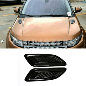 For Land Rover Discovery Sport Black Hood Air Vent Outlet Cover Trim(Small Size)