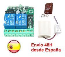 Emisor + Receptor 220VAC con 2 canales a 433 Mhz.