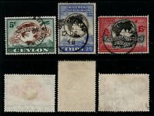 Ceylon 1949 UPU-set.Used.