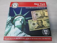 2004 Series NEW YORK Evolutions $20 & $50 Currency Note Matching Set