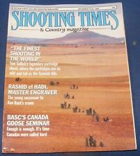 SHOOTING TIMES MAGAZINE DECEMBER 14-20 1989 - FINEST SHOOTING IN THE WORLD