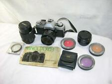MINOLTA XG-1 SLR CAMERA-3 LENSES-8 FILTERS-CAMERA BAG-OWNERS MANUEL