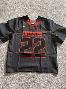 Nike Syracuse Orange #22 Lacrosse Vapor Carbon Game Jersey LG Gait Powell