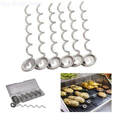 Char-Broil 6-Pack Potato Nails BBQ Grill Grilling Tools Skewers Cooking Baking