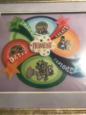 New ListingDisney It All Started With Walt 2006 Event Figment Framed Pin Set Limited To 300