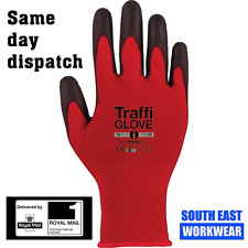 Red TraffiGlove AGILE / CLASSIC TG122 / TG1010 Large Size 9, Pack of 10 Pairs