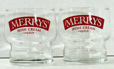 Merrys Irish Cream Liqueur Set of 2 Glasses Barware Collection Free Shipping LNC