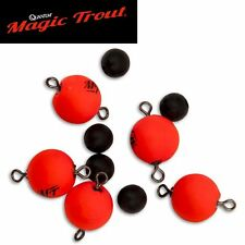 Quantum Magic Trout Float Connector Swivel rot, 5 Wirbel zum Forellenangeln