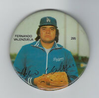 1981 DODGERS Fernando Valenzuela photo button pin Rookie ROY CyYoung Los Angeles