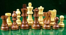 "WEIGHTED SHEESHAM WOOD CHESS SET - STAUNTON DESIGN -  3 3/4"" KING"