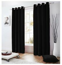 """2 Pc Velvet Lined Curtain Ringtop  Eyelet  Grommet Curtain 42"""" x 84"""" inches"""