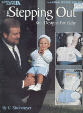 Stepping Out Knit Designs For Baby Leisure Arts 2134 Knitting Pattern Booklet