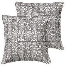 2 x ikea akerkulla 65x65cm gris & blanc à motifs housses de coussin