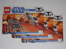"""LEGO: STAR WARS #10195 """"Republic Dropship With AT-OT"""" SET OF 3 MANUAL'S ONLY"""