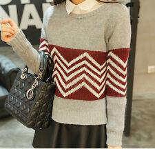 Comodo caldo maglione grigio rosso scollo barchetta morbido misto lana 4191