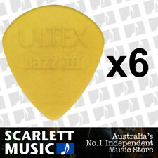 6 X Jim Dunlop Jazz III Ultex Guitar Plectrums Picks 1.38mm *NEW* 427R