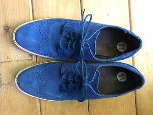 Cole Haan 11 Blue Suede Oxford Shoes-EXCELLENT!!!