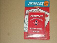 PEOPLES Drug Stores Plastic Coated Playing Cards  NOS