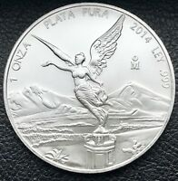 2014 Mexican Libertad 1 oz .999 Silver Coin Low Mintage Key Date (5925)