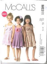 McCall's M6311 CHILDREN & GIRLS SUMMER LINED BUBBLE HEM DRESS SEW PATTERN SZ 6-8