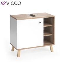 VICCO Waschbeckenunterschrank SENYO Weiß Sonoma Eiche Waschtisch Unterschrank