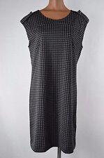 Banana Republic Womens Black/Gray Polka Dot Sleeveless Dress size 12 NWT