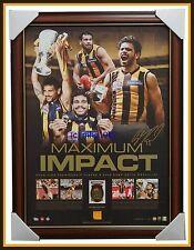 2015 Norm Smith Medallist Cyril Rioli Signed Hawthorn Maximum Impact Print Frame