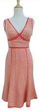 Max Mara SPORTMAX Silk Chiffon dress US 4 coral polka dot print  F 36 NL D 34