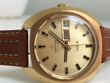 CERTINA DS-2 Automatic Day Date 20M Gold *NOS, 1970-1972,  great dial!*