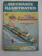 Mechanix Illustrated - Feb. 1955  Tractor-Trailer Houseboat Cobbler's Bench Lamp