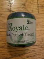 NEW Royale Fashion Crochet Thread one roll Size 3 Navy Blue cotton
