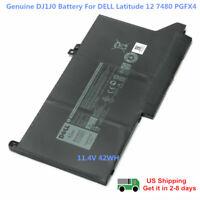 Genuine DJ1J0 Battery For DELL Latitude 12 7000 7280 7480 PGFX4 ONFOH 451-BBZL