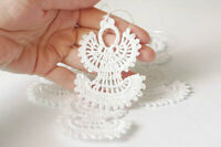 Crochet Baubles Christmas tree Decorations Hanging ornaments 1 set of 10 Angel