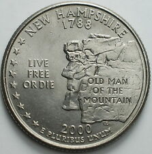 "1999-2009   USA  State   Quarter  dollar   ""New Hampshire"""