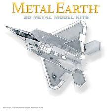 Fascinations Metal Earth F-22 Raptor Aircraft Jet Airplane Laser Cut 3D Model
